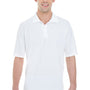Hanes Mens X-Temp Fresh IQ Moisture Wicking Short Sleeve Polo Shirt - White