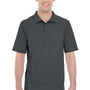 Hanes Mens X-Temp Fresh IQ Moisture Wicking Short Sleeve Polo Shirt - Heather Charcoal Grey