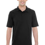 Hanes Mens X-Temp Fresh IQ Moisture Wicking Short Sleeve Polo Shirt - Black