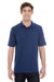 Hanes 055P Mens X-Temp Fresh IQ Moisture Wicking Short Sleeve Polo Shirt Navy Blue Front