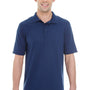 Hanes Mens X-Temp Fresh IQ Moisture Wicking Short Sleeve Polo Shirt - Navy Blue