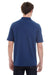 Hanes 055P Mens X-Temp Fresh IQ Moisture Wicking Short Sleeve Polo Shirt Navy Blue Back