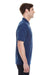 Hanes 055P Mens X-Temp Fresh IQ Moisture Wicking Short Sleeve Polo Shirt Navy Blue Side