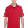 Hanes Mens X-Temp Fresh IQ Moisture Wicking Short Sleeve Polo Shirt - Deep Red