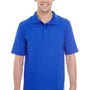 Hanes Mens X-Temp Fresh IQ Moisture Wicking Short Sleeve Polo Shirt - Deep Royal Blue
