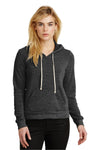 Alternative 09596F2 Womens Athletics Eco Fleece Hooded Sweatshirt Hoodie Black Front