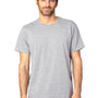 Threadfast Apparel Mens Ultimate Short Sleeve Crewneck T-Shirt - Heather Grey