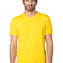 Threadfast Apparel Mens Ultimate Short Sleeve Crewneck T-Shirt - Bright Yellow