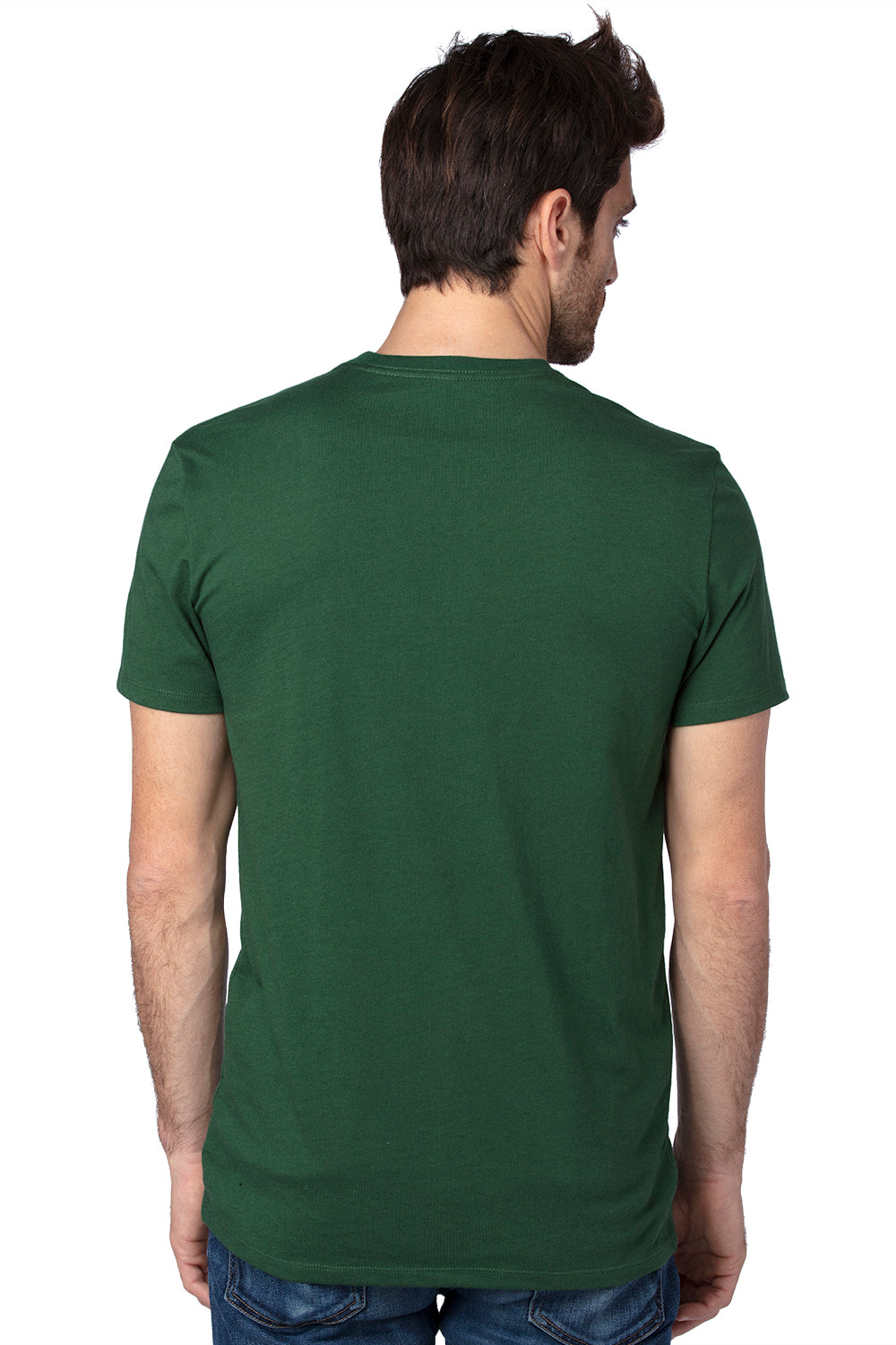 Threadfast Apparel 100A Mens Ultimate Short Sleeve Crewneck T-Shirt Forest Green Back
