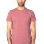 Threadfast Apparel Mens Ultimate Short Sleeve Crewneck T-Shirt - Heather Maroon