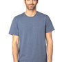 Threadfast Apparel Mens Ultimate Short Sleeve Crewneck T-Shirt - Heather Navy Blue