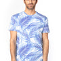 Threadfast Apparel Mens Ultimate Short Sleeve Crewneck T-Shirt - Palm Paradise