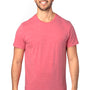 Threadfast Apparel Mens Ultimate Short Sleeve Crewneck T-Shirt - Heather Red