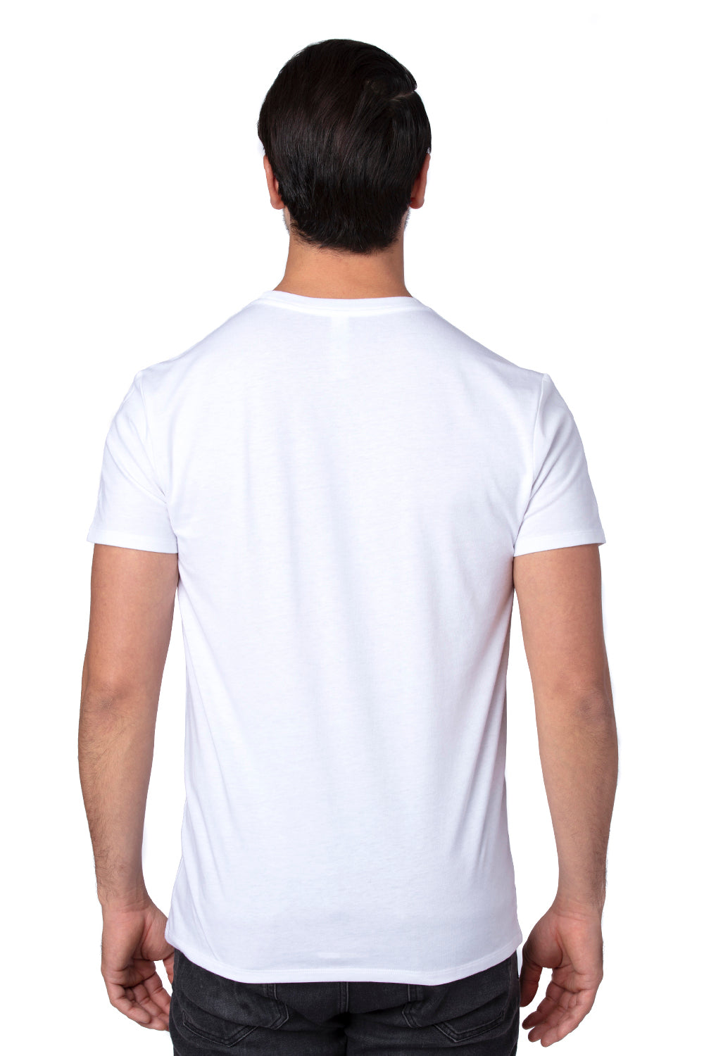 Threadfast Apparel 100A Mens Ultimate Short Sleeve Crewneck T-Shirt RFID White Back