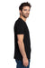 Threadfast Apparel 100A Mens Ultimate Short Sleeve Crewneck T-Shirt Black Side