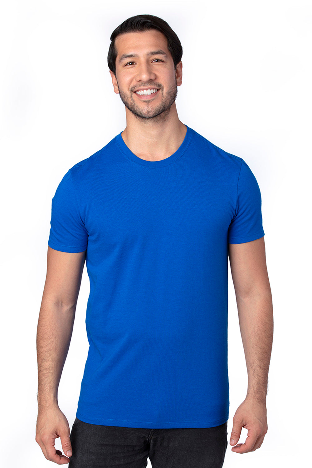 Threadfast Apparel 100A Mens Ultimate Short Sleeve Crewneck T-Shirt Royal Blue Front