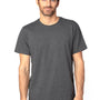 Threadfast Apparel Mens Ultimate Short Sleeve Crewneck T-Shirt - Heather Charcoal Grey