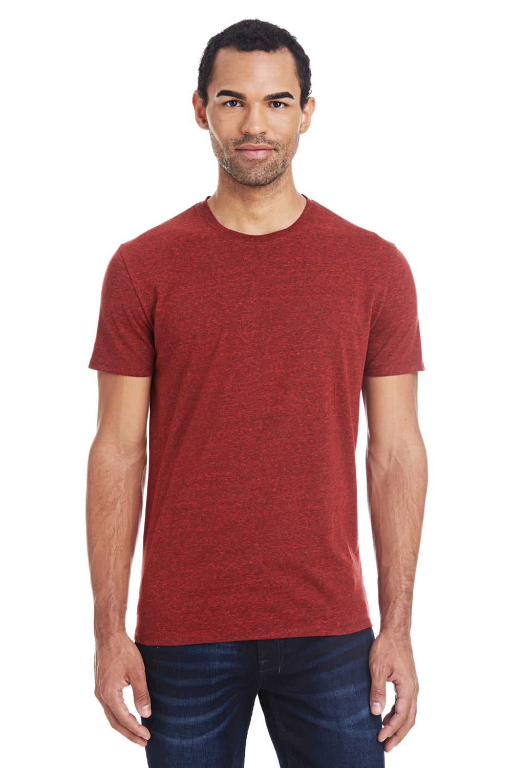 Threadfast Apparel 102A Mens Short Sleeve Crewneck T-Shirt Cardinal Red Front