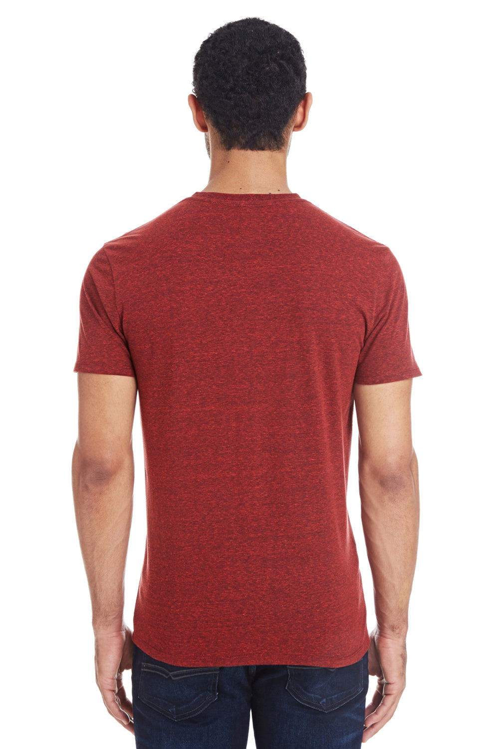 Threadfast Apparel 102A Mens Short Sleeve Crewneck T-Shirt Cardinal Red Back
