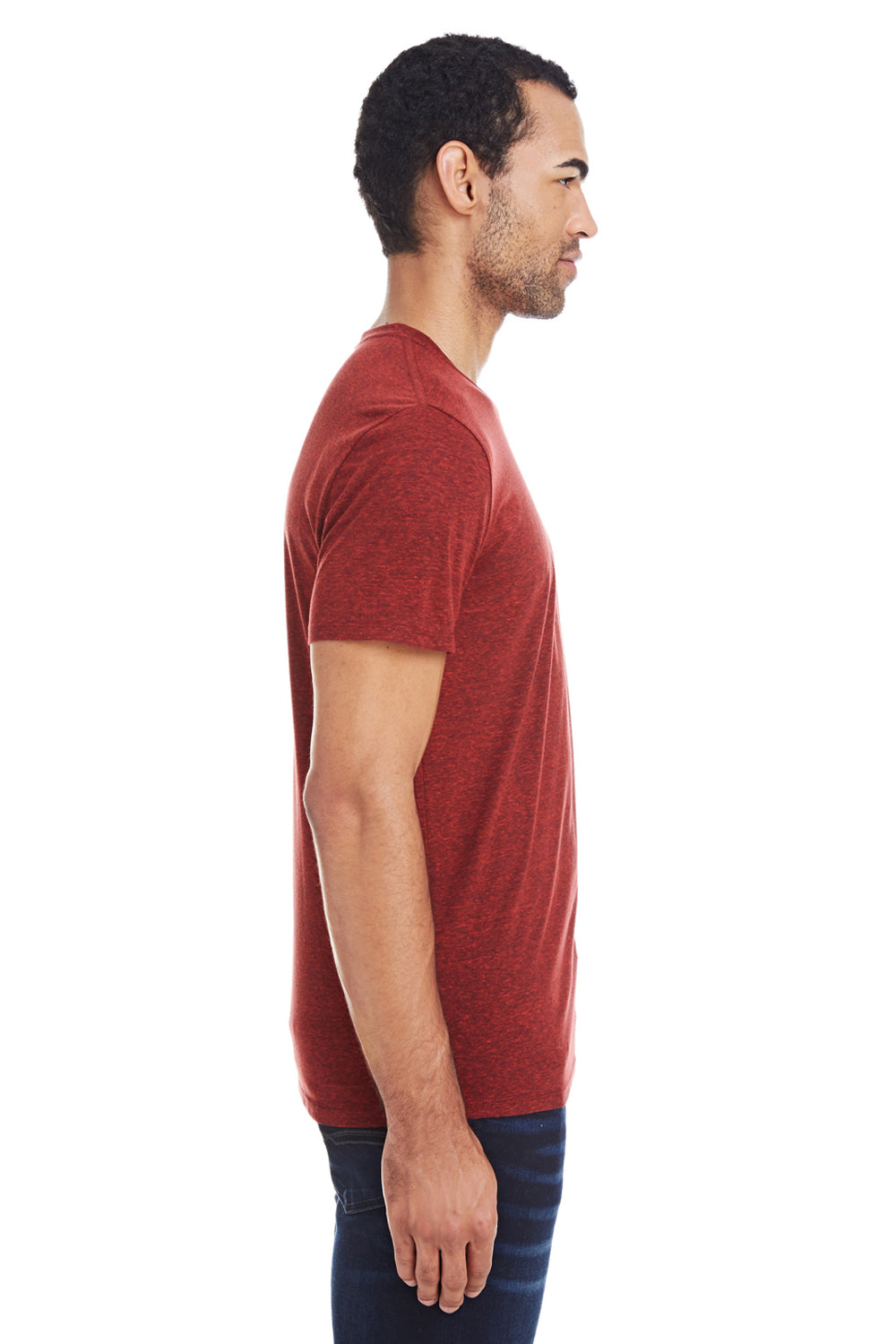 Threadfast Apparel 102A Mens Short Sleeve Crewneck T-Shirt Cardinal Red Side