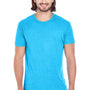 Threadfast Apparel Mens Fleck Short Sleeve Crewneck T-Shirt - Turquoise Blue