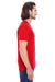 Threadfast Apparel 103A Mens Fleck Short Sleeve Crewneck T-Shirt Red Side