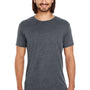 Threadfast Apparel Mens Vintage Dye Short Sleeve Crewneck T-Shirt - Vintage Charcoal Grey