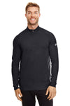 Under Armour 1300131 Mens Tech Moisture Wicking 1/4 Zip Sweatshirt Black Front