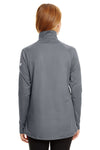 Under Armour 1300132 Womens Tech Moisture Wicking 1/4 Zip Sweatshirt Graphite Grey Back