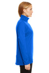 Under Armour 1300132 Womens Tech Moisture Wicking 1/4 Zip Sweatshirt Royal Blue Side