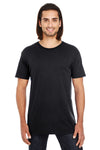 Threadfast Apparel 130A Mens Short Sleeve Crewneck T-Shirt Black Front