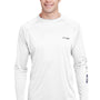 Columbia Mens Terminal Tackle Long Sleeve Crewneck T-Shirt - White