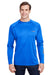 Columbia 1388261 Mens Terminal Tackle Long Sleeve Crewneck T-Shirt Royal Blue Front