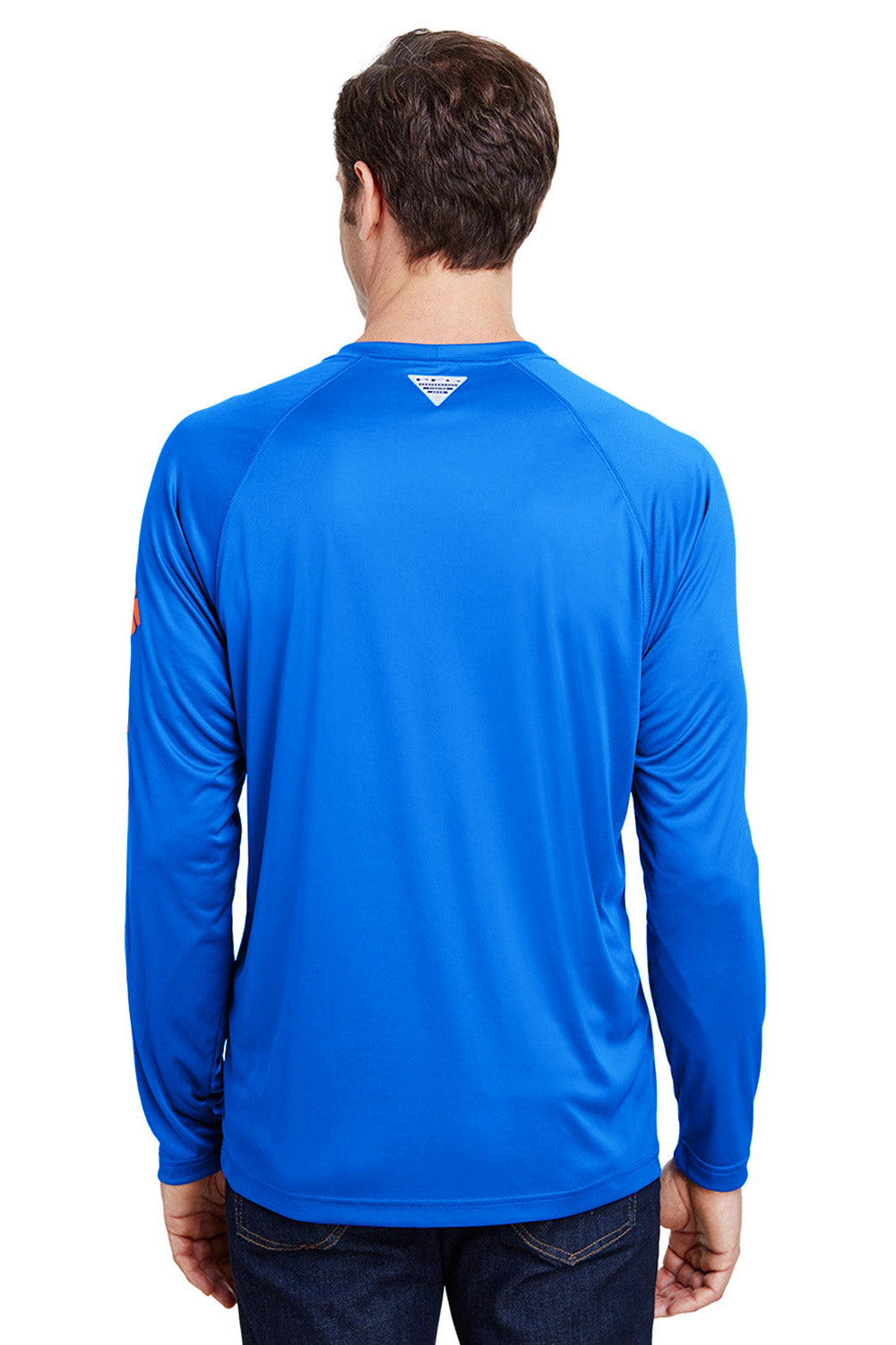 Columbia 1388261 Mens Terminal Tackle Long Sleeve Crewneck T-Shirt Royal Blue Back