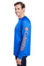 Columbia 1388261 Mens Terminal Tackle Long Sleeve Crewneck T-Shirt Royal Blue Side