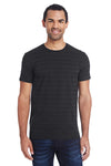 Threadfast Apparel 152A Mens Short Sleeve Crewneck T-Shirt Black Front