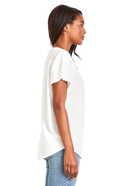 Next Level 1560 Womens Ideal Dolman Short Sleeve Crewneck T-Shirt White Side
