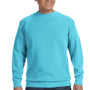 Comfort Colors Mens Crewneck Sweatshirt - Lagoon Blue