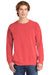 Comfort Colors 1566 Mens Crewneck Sweatshirt Watermelon Pink Front