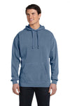Comfort Colors 1567 Mens Hooded Sweatshirt Hoodie Blue Jean Front