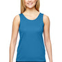 Augusta Sportswear Womens Columbia Blue Training Moisture Wicking Tank Top
