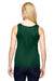 Augusta Sportswear 1705 Womens Training Moisture Wicking Tank Top Dark Green Back