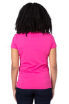 Threadfast Apparel 200RV Womens Ultimate Short Sleeve V-Neck T-Shirt Hot Pink Back