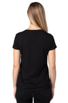 Threadfast Apparel 200RV Womens Ultimate Short Sleeve V-Neck T-Shirt Black Back
