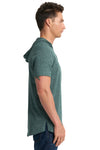 Next Level 2022 Mens Mock Twist Short Sleeve Hooded T-Shirt Hoodie Forest Green Side
