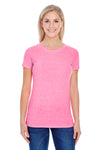 Threadfast Apparel 202A Womens Short Sleeve Crewneck T-Shirt Neon Pink Front