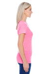 Threadfast Apparel 202A Womens Short Sleeve Crewneck T-Shirt Neon Pink Side