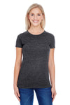 Threadfast Apparel 202A Womens Short Sleeve Crewneck T-Shirt Black Front