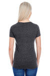 Threadfast Apparel 202A Womens Short Sleeve Crewneck T-Shirt Black Back