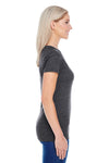 Threadfast Apparel 202A Womens Short Sleeve Crewneck T-Shirt Black Side